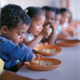 Children eating in school